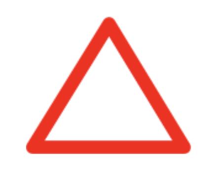 panneau triangulaire