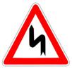 Panneau-danger-succession-virage-gauche