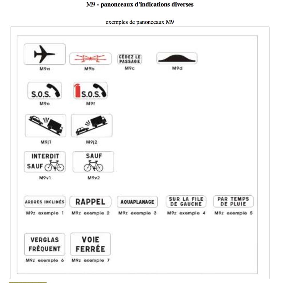 Panonceaux-d-indications-diverses-M9