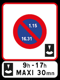 Panneau-stationnement-payant-et-panonceau-duree-de-temps