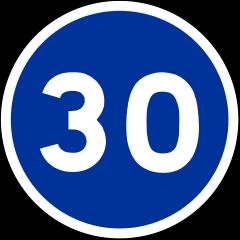 Panneau-30-bleu-