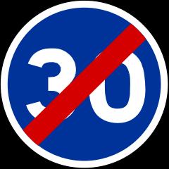 Panneau-30-bleu-barre-B43